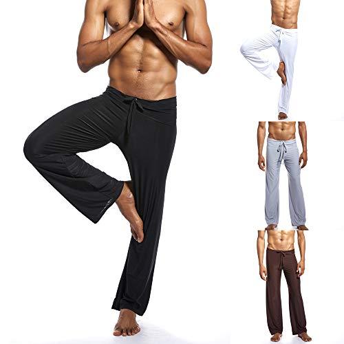 Aiserkly Herren Mode Yoga-Hosen aus reinem neuen Zuhause binden Bequeme Hosen Kaffee Weiß Schwarz Grau S/M/L/XL