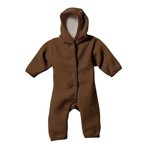 Disana 36105XX - Walk-Overall Wolle haselnuß, Size / Größe:50/56 (0-3 Monate) - 1 Haselnuss
