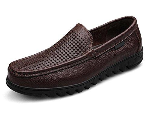 Primo strato di scarpe casual da uomo in pelle scarpe di business quotidiane cava traspirante 1