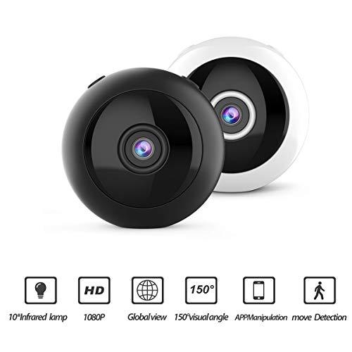 Chennie Mini HD 1080P Kamera WiFi IP Nachtsicht Baby Hund Bewegungserkennung Home Security DVR Echtzeit-Anzeige Aufnahme (Color : Black) Echtzeit-dvr