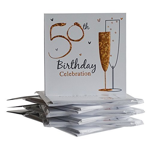 50th Birthday Party Invitations {Holographic} 36 Multipack Cards