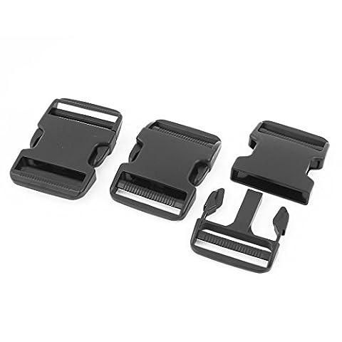 sourcingmap® Plastic Backpack Rucksack Quick Release Buckle 51mm Width 3 Pcs Black