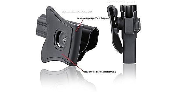 92FS GSG92 Cytac Hi-Tech Hartschalen Beretta 92 Neigungswinkel 360/° Verstellbar aus Kunststoff Rechte Hand Girsan Regard MC Paddle mit Silicon-Schicht