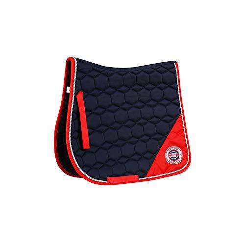 Mitrc Pferdesattelunterlage, Western Gel Seat Pad, Schwamm + 120G Spray Baumwolle verdicken Komfortable Reitersattelunterlage,Blue -