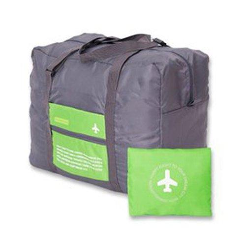 D9Q Premium große Kapazitäts wasserdichte faltbare Spielraum Aufnahme Paket Duffle Bag Grün