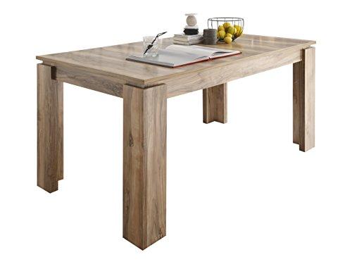 trendteam smart living Esstisch Küchentisch Universal, 160 x 77 x 90 cm in Nussbaum Satin (Nb.) erweiterbar durch Ausziehfunktion auf 200 cm