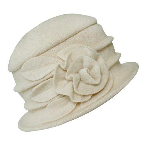 Damen Vintage Bucket Hut Wintermütze Beret (#1 (Wolle Hut)