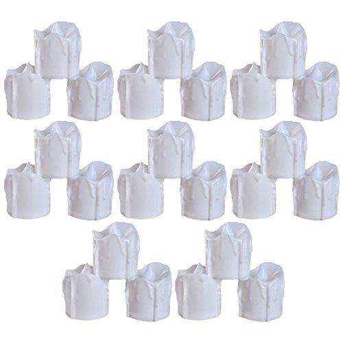 24 Piezas decorativas sin llama de la batería eléctrica operado falsas velas tealight para cumpleaños fiesta de la boda decoración del hogar