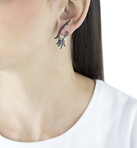 Joelle Jewellery Boucles d'Oreilles Plaqué Or Diamant Femme blanc