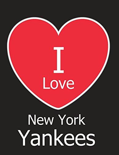 I Love New York Yankees: Black Notebook/Journal for Writing 100 Pages, New York Yankees Baseball Gift for Men, Women, Boys & Girls por Kensington Press