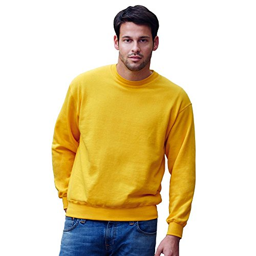 SWEATSHIRT SET-IN FRUIT OF THE LOOM S M L XL XXL White
