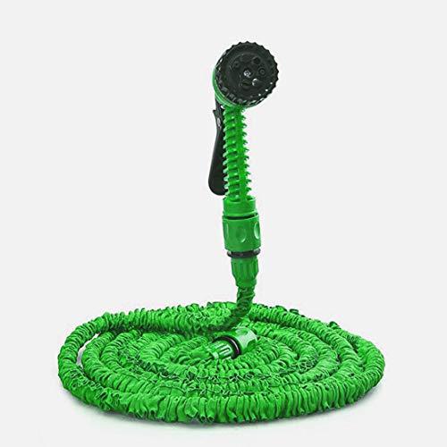 homelikesport Tubo da Giardino,Tubo Irrigazione Estensibile 30M(100ft) Tubo Estensibile da Giardino con 7 Funzioni di Spruzzo Tubo da Giardino espandibile (verde)
