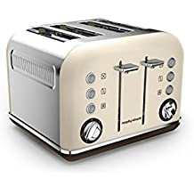 Morphy Richards 242101EE Accents 4-Schlitz-Toaster, sand