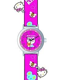 Hello Kitty 4423904-girls-Armbanduhr Analog Quarz Pink Rubber Strap Rosa Zifferblatt