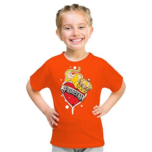 Kinder T-Shirt Kleine Princess Orange