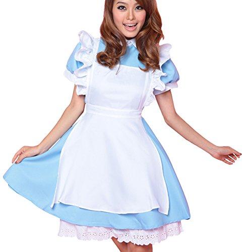 Free Fisher Damen Kostüm Dienstmädchen für Karneval Fasching Halloween 34/36 (Herstellergröße M) (Kostüm Alice)