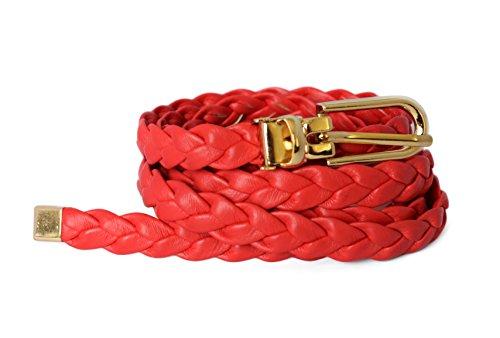 ladies-women-fashion-skinny-thin-pu-leather-weaved-braid-waist-belt-red