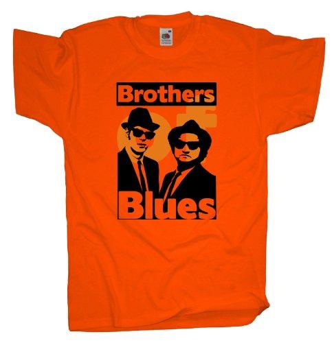 Ma2ca - Brothers of Blues - T-Shirt Orange