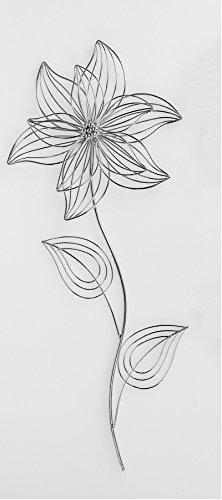Klp Wanddeko Wandbild Metall Deko Bild Artikel Blume Blüte Wandekoration Wandschmuck -