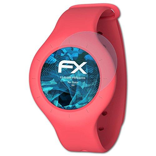 atFoliX Schutzfolie kompatibel mit Nokia Go Folie, ultraklare FX Bildschirmschutzfolie (3X)