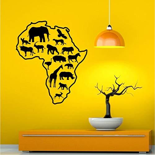 Karte Wandaufkleber African Safari Alle Arten Von Tieren Abnehmbare Vinyl Wandtattoo Aufkleber Für Kinder Schlafzimmer 44 * 52 Cm (Flash-karten Arten Aller Tiere)