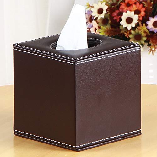 Ruixinshi Leder antik Haspel Karton Karton Fach Haushalt Haushalt Serviette Rollenpapier Gewebe,Kaffee Farbe,13 * 13 * 13 cm (Kaffee-spender Antike)