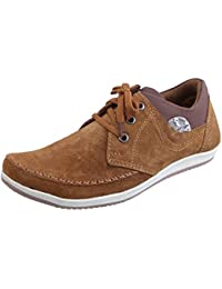 Marshal Spit Zen Men's Tan Chikoo Genuine Leather Casual Shoes