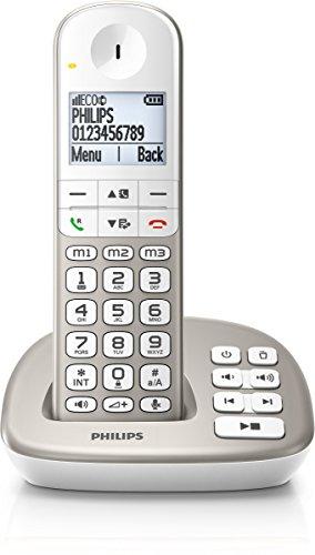 PHILIPS XL4951S/05&Nbsp; Schnurlostelefon mit Anrufbeantworter, 4, 8&Nbsp; cm Gro&Szlig; es Display und Wei&Szlig; E Hintergrundbeleuchtung - Telefon Philips Schnurloses