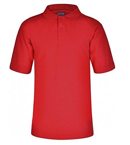 INDEX 2109Jungen Poloshirt, Einfarbig Rot