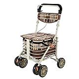 Knieschoner Senioren Schritt für Schritt Einkaufswagen Trolley Shopping Roller kann sitzen Falten...