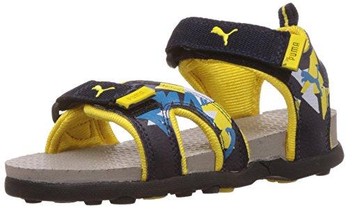 Puma Unisex Techno Cat 2 Jr DP Peacoat-Flroyellow-Graviolet Sandals - 12 UK