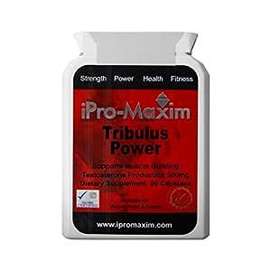 Tribulus Pro-Max (90 gélules) 500 mg - Le complément sportif de niveau supérieur le plus puissant au niveau de la production de testostérones et de la croissance musculaire Par Tribulus Pro Max. Certification de saponines de 98% et 16% protodioscine