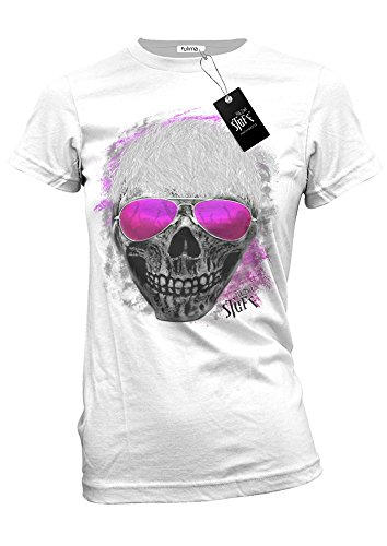 PARTY SKULL - Styled by Fulima-Stuff Lady Shirt Weiß