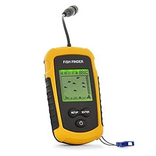 Generic FF1108-1 Sonar-Sensor-Wandler Beweglicher verdrahteter Fisch-Sucher, Gelb