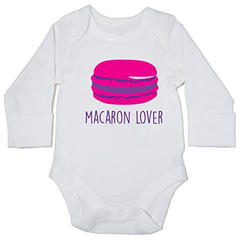 Hippowarehouse Macaron Lover Baby Vest Bodysuit (Long Sleeve) Boys Girls