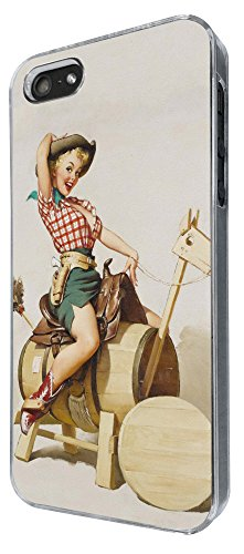 679 - Vintage Pin up Girl Sexy Design iphone 5 5S Coque Fashion Trend Case Coque Protection Cover plastique et métal