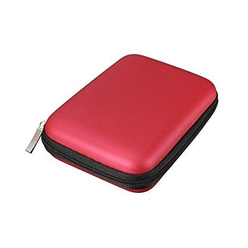 Access-Discount-Custodia rigida antiurto con cerniera, per hard disk esterni portatili da 2,5 ' rosso
