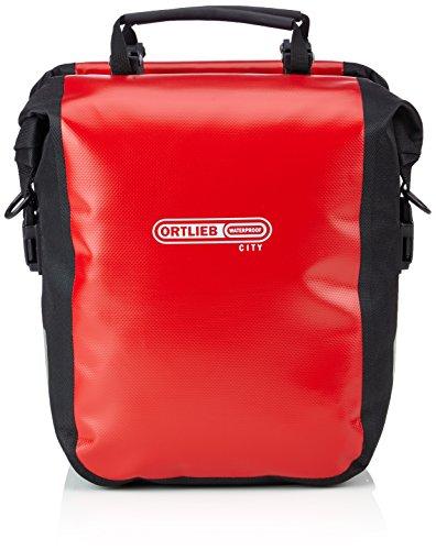 Ortlieb Gepäckträgertasche Sport-Roller City, rot-schwarz, 30 x 25 x 14 cm, 25 Liter, F6001