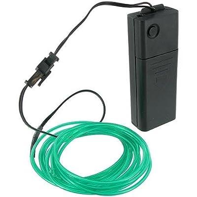 iClever® grün 3m Neonleuchte EL Wire EL Kabel, die Steuerung mit einem aus / an Switch und Strobe-Modus von iclever auf Lampenhans.de