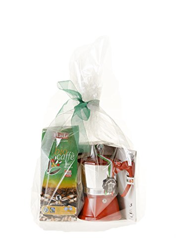 Vorrei Italian Coffee Gift Set moka pot and Caffè Haiti 100% organic 100% fairtrade Arabica coffee