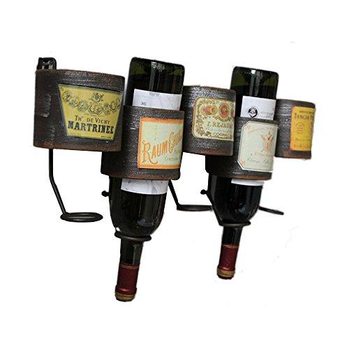 LIXIGA Wand-montiert Weinregale American Village Vintage Schmiedeeisen Wandbehang Weinregal Wandbehang Kreative Cafe Western Restaurant Weinregal -