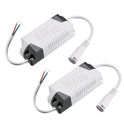 Sourcingmap Konstantstrom 300 mA Hochleistungs-LED-Treiber Gleichstrom-Anschluss externes Netzteil LED Deckenlampe Gleichrichter Trafo 12-18W(2pcs) (Treiber-treiber -)