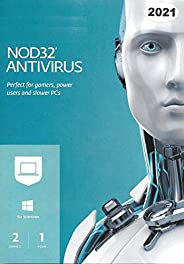 ESET Nod32 Antivirus 2021 - 2 Users for 1 Year - Authentic Middle East Version