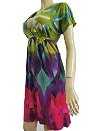 NEXT Multi Coloured Printed Short Sleeve Casual Dress