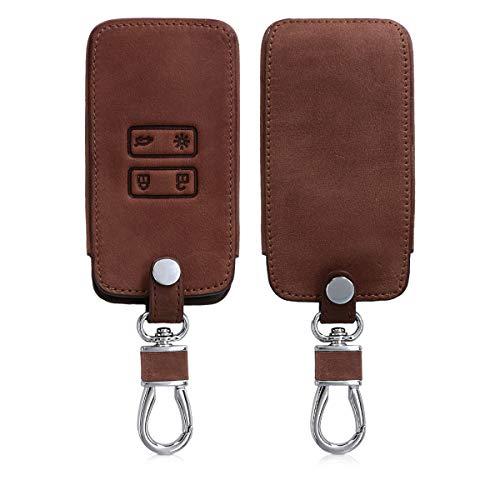 kwmobile Autoschlüssel Hülle für Renault - Kunstleder Schutzhülle Schlüsselhülle Cover für Renault 4-Tasten Smartkey Autoschlüssel (nur Keyless Go) -