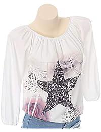 4871061097ed Innerternet Damen Langarmshirt Damen Sexy Oberteile Schulterfrei Shirt  Casual Oversized Tops…