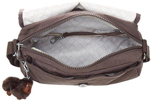 Kipling Damen Cayleen Umhängetasche, 9 x 26 x 17.5 cm Braun (Campfire Smoke)