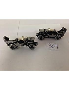 Willys Jeep 3D Manschettenknöpfe Classic Car Zinn Effekt Manschettenknöpfe ref309