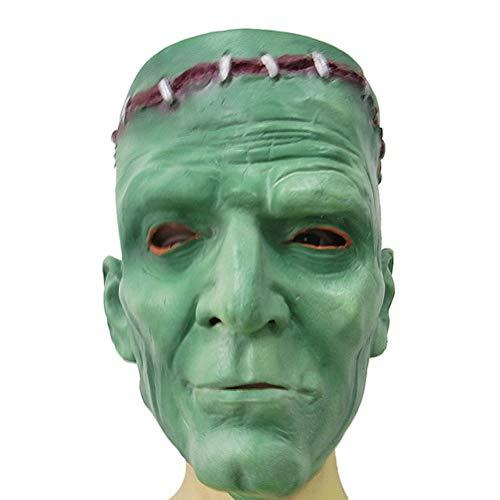 Kostüm Bilder Frankenstein - Amosfun Frankenstein Maske Costume Mask Party Maske Horror Maske für Halloween Makeup Party Kostüm Prop