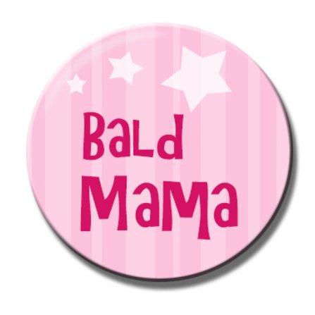 Polarkind Button Anstecker Pin Bald Mama spruch 38mm rosa Babyparty Geschenk zur Schwangerschaft
